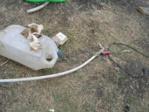 Труба метапола с краном для гидроудара и промывки скважины