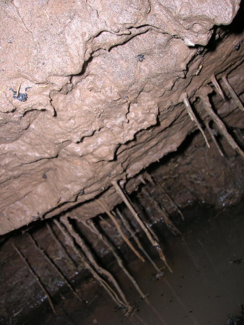 Пещера при бурении плывуна