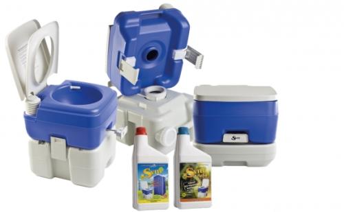 Ведро-туалет с химреагентами