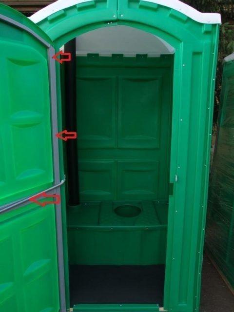 Каркасный пластиковый туалет